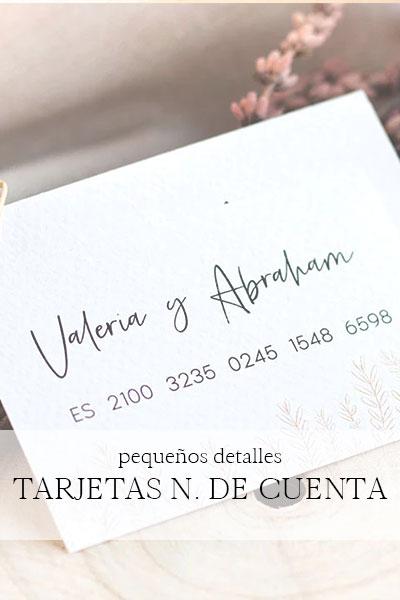 comprar tarjetas personalizadas con numero de cuenta asturias